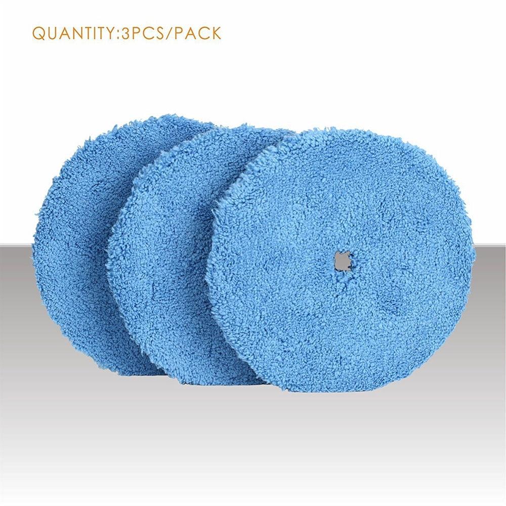 3Pcs 6inch Buffing Sponge Polishing Pad Kit Waxing Car Auto Polisher Use