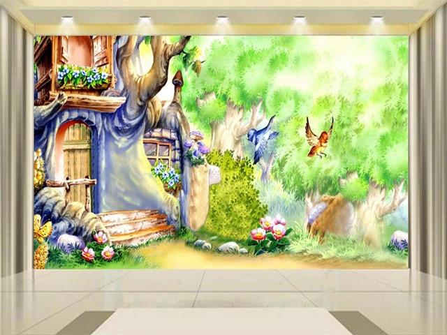 3d Wallpaper Photo Wallpaper Custom Kids Mural Livingroom Magic