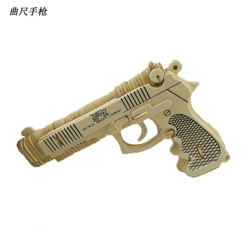 Freeshipping Toy Gun Scale Toys M92F Pistol DIY Wooden Miniature Building Toys