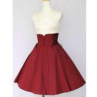 High Quality Girls Women Cotton Slim Cut Empire Waist Gothic Lolita Skirt