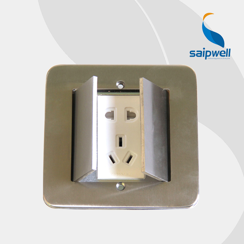 5 Holes Waterproof Floor Socket Concealed Stainless