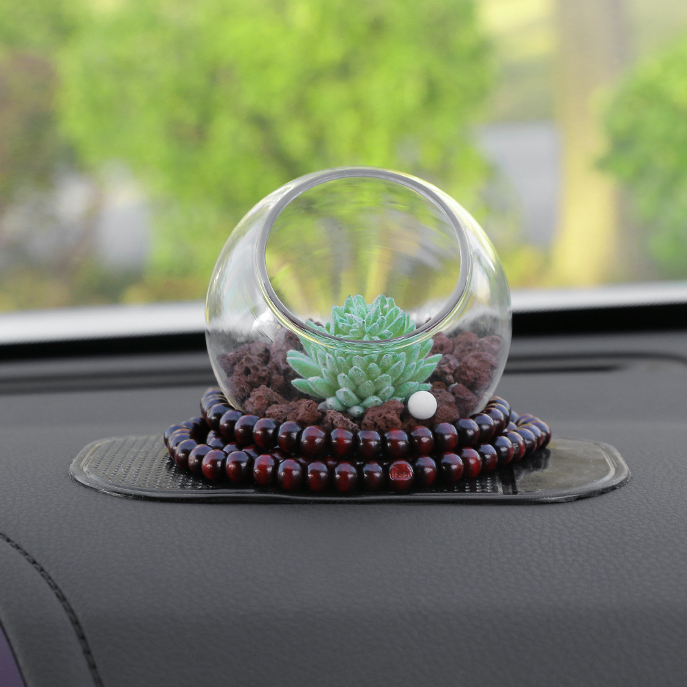 Car-Styling Artificial Plants Car Dashboard Decoration Ornament Creative Cute Zeolite Stone Automobile Interior Air Freshener car outlet perfume air freshener with thermometer lime