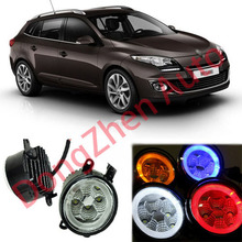 2015 new auto accessories car LED front fog lights strobe line group For Renault Megane 2002-2012 car styling parking