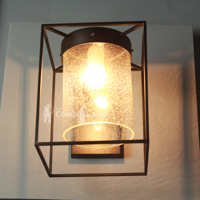Nordic American Village outdoor wall sconce simple classic retro ...