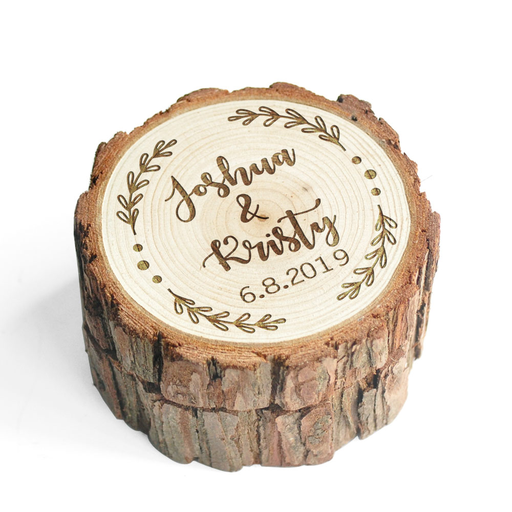 Wood Wedding Ring Box Proposal Ring Box Rustic Ring Bearer Pillow Engagement Gift Country Wedding Valentines Gift Wedding Decor