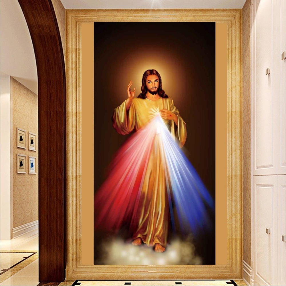 PSHINY 5D DIY Broderie de diamant Isus Cristos imagini religioase Home Decor Complet Mosaic Kit ron stras Painting cross stich