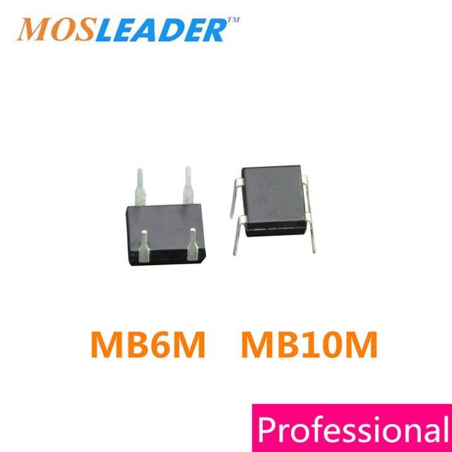 Mosleader DIP MB6M MB10M DIP4 1000PCS 0.5A 500mA 600V 1KV 1000V Datasheet inside High quality