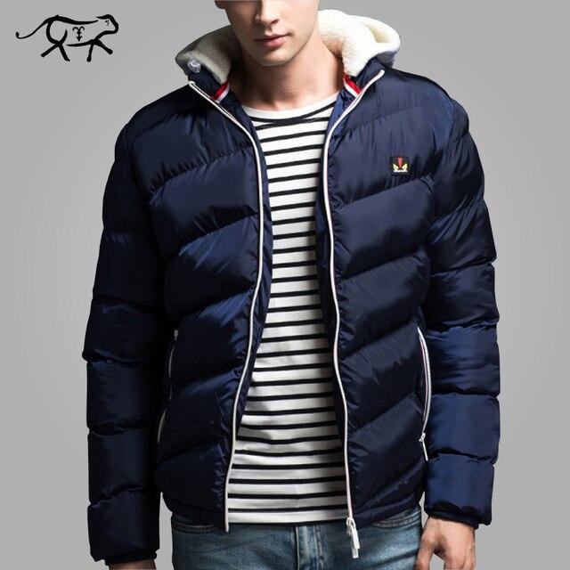 Nova Marca de Roupas de Inverno Homens Jaqueta dos homens de Moda Com Capuz Jacets e Casacos Casaco Grosso Casual para o Sexo Masculino Casaco Quente Outwear 4XL