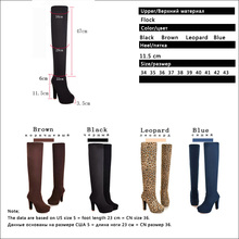 New Women Boots Sexy Fashion Over the Knee Boots Sexy Thin Square Heel Boot Platform Woman Shoes Black size 34-43