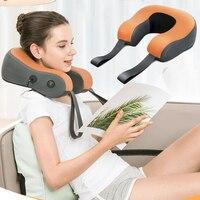 Portable Electric Belt Heated Massage for Neck and Shoulder Full Back Kneading Massage Belt