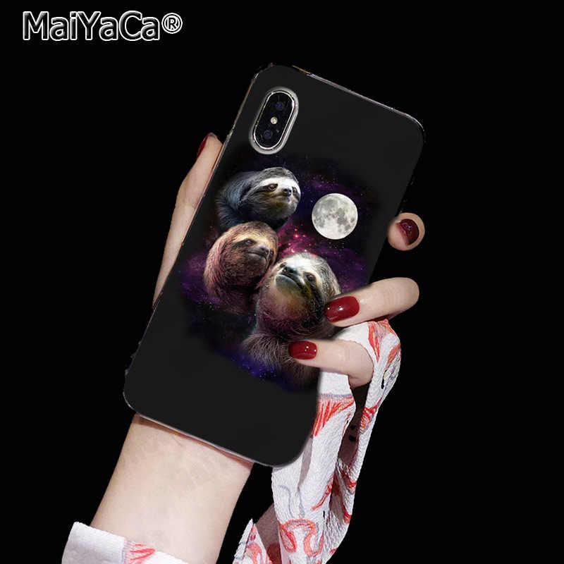 MaiYaCa 宇宙飛行士動物犬牛ナマケモノペット新楽しい電話ケースカバーのための iphone 11 プロ 8 7 66S プラス × 10 5S 、 SE XR XS XS 最大カバー
