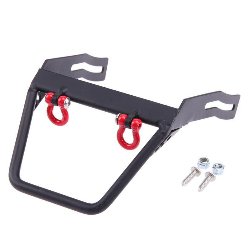Flat Front Bumper Winch Mount Shackle For Axial SCX10 1/10 RC Crawler Car High Quality Metal Steel Flat Front Bumper