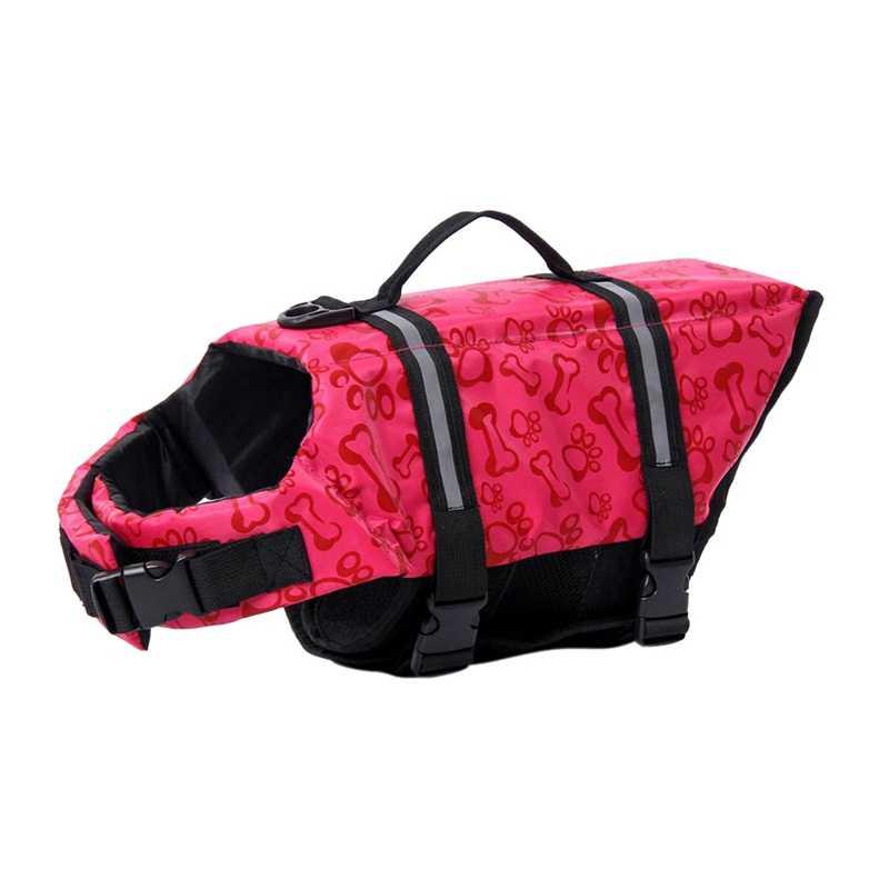 חיות מחמד כלב חיים Jacket עצמות דפוסים בטיחות בגדי חיים אפוד לרתום שומר חיות מחמד כלב בריכה שומרה בגדי קיץ Swimwer