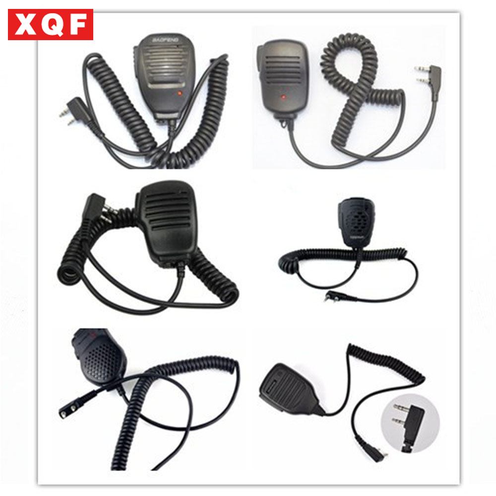 XQF PTT Speaker Microphone Walkie Talkie MIC Accessories For Kenwood For Baofeng Bf-888S UV-5R UV-82  Two Way Radio