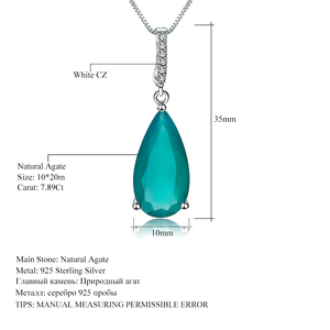 Image 5 - Gems Ballet 7.89Ct Natural Green Agate Gemstone Pendant  925 sterling Silver Necklaces&Pendants For Women Fine Jewelry