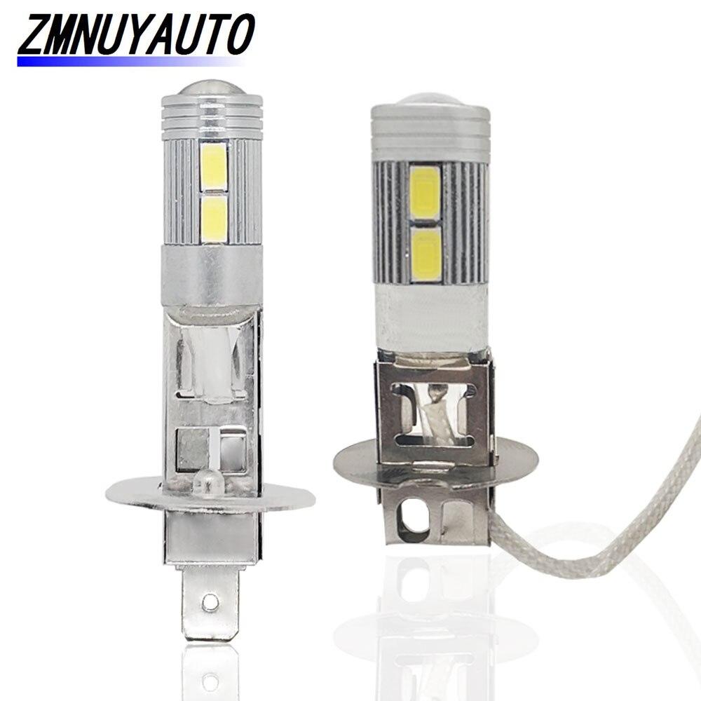 Super LED H1 H3 Auto Birne Nebel Lampe 12 V 6000 K Weiß 10SMD 5730 Ersatz Lampen Für Auto Tag fahren Lampe Tagfahrlicht
