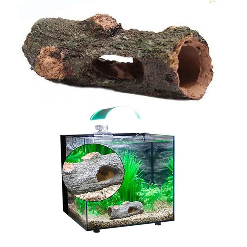 Новый аквариум орнамент полые ствол моделирование бревно дерево полирезина пейзаж аквариум украшения Высокое качество 9