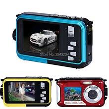 Dual Screen Camera HD LCD Screen 16X Digital Zoom 24MP Max Waterproof Diving 3M Digital Camera