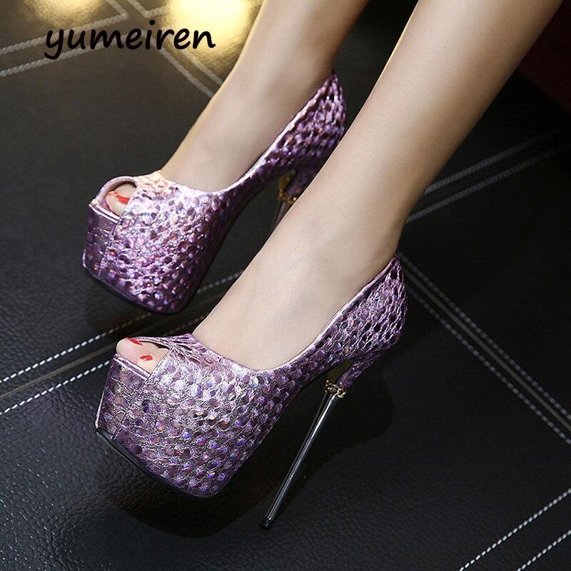 ФОТО sexy shoes peep toe women high heels pumps women summer sandals purple shoes silver heels women shoes heels pom pom sandals Y948