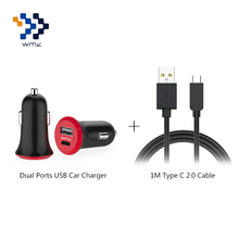 USB 2.0 Universal Dual Ports Fast Travel Charger Adapter+1M Type-C Cable For Mobile Phones Xiaomi5 6 One Plus 3 3T LG G6