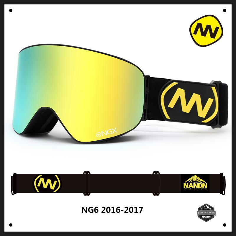NANDN hiver professionnel lunettes de Ski Anti-buée Double lentille Uv400 Ski Snowboard neige Motorcross lunettes lunettes 10 couleurs NG6