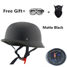 German Motorcycle WWII Style Half Helmet Chopper Biker Pilot Open Face Moto Motocicleta Capacete Casco Casque Kask Retro Vintage new german motorcycle wwii style half helmet chopper biker pilot goggles open face moto motocicleta with free goggle and mask