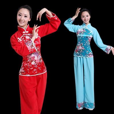 9b0462084 Chinese Classical Dance Costumes Yangko Dance for Women Chinese Folk ...