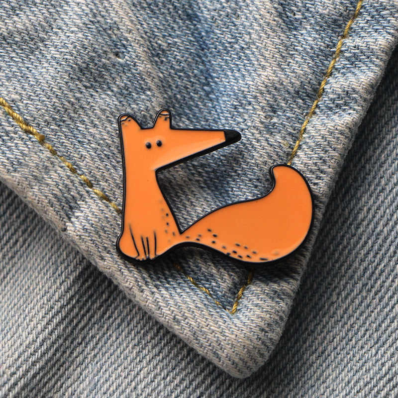 DMLSKY Le Petit Prince Cute Fox Art Enamel Pins and Brooches Lapel Pin Backpack Bags Badge Clothing Decoration Gifts M3347