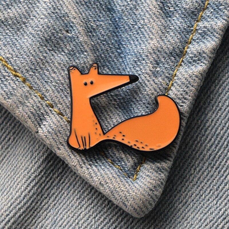 DMLSKY Le Petit Prince mignon renard Art émail broches et broches épinglette sac à dos sacs Badge vêtements décoration cadeaux M3347