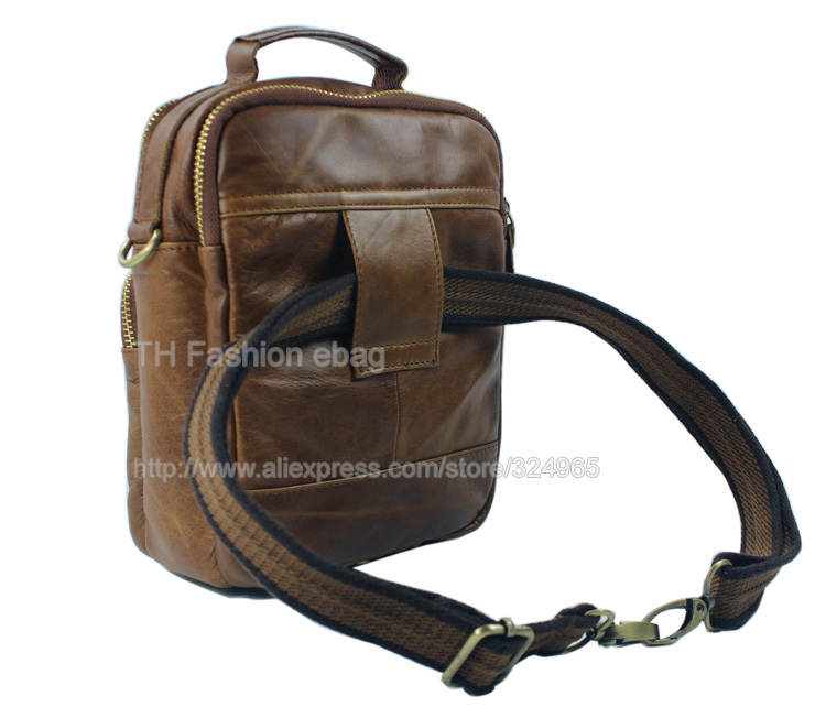 Aliexpress.com : Buy Fashion Crossbody bag Genuine Leather Men ...