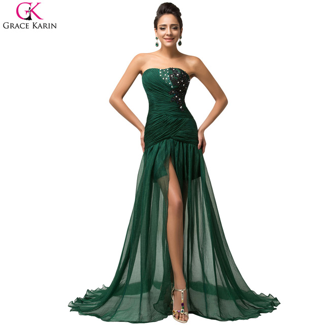 Sexy Formal Gown Emerald