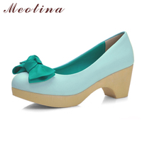 Size 34 Sweet Women S Pumps Spring Closed Toe Basic Casual Office Square Medium Heels Female
