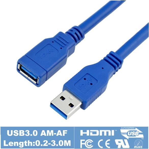 USB 3.0 Male To Female Extension Cable AM To AF 30cm 60cm 100cm 150cm 1ft 2ft 3ft 5ft For USB flash drive hub card reader usb am to af cable 1 5m length