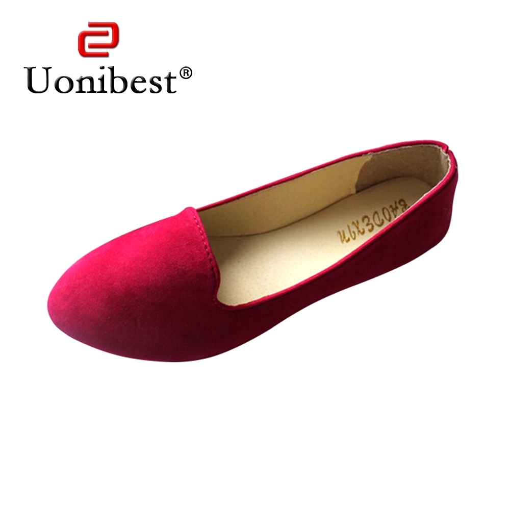 Uonibest Style Women Canvas Slip Flat Shoes For Female