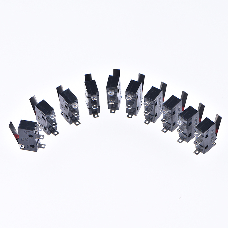 10 Pcs Mini Micro Limit Switch Roller Lever Arm SPDT Snap Action LOT Wholesale in Switches from Lights Lighting