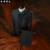 (Jacket + vest + pants) hombres wedding prom traje set verano otoño invierno patrón decorativo bailarín del cantante estrellas chaqueta fiesta de disfraces