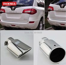 tommia High Quality T304 Stainless Steel Exhaust Muffler Tip For Renault Koleos 2009-2016 Car Accessories