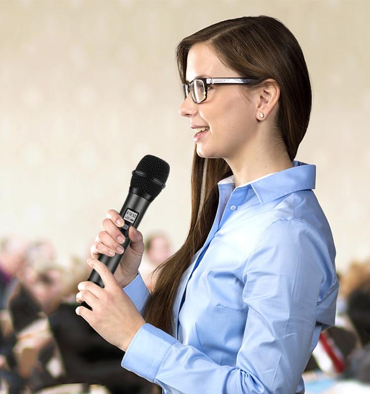 Système de Microphone sans fil Fifine avec récepteur Portable sortie 1/4 '', canaux UHF sélectionnables. Parfait pour l'église, le mariage, etc. - 6