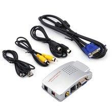 Universal PC Converter Box VGA to TV AV RCA Signal Adapter Video Switch Composite Supports NTSC PAL for Computer цена в Москве и Питере