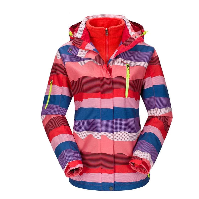 ФОТО Plus Size ski jacket women windstopper snowboard jacket waterproof snow jackets plus fleece Mountaineer hiking ski suit