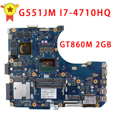 For ASUS G551JM Motherboard N551JM REV2.0 processor i7-4710HQ GeForce GTX860M 2GB USB2.0 HM86 DDR3 VRAM 100% fully Tested