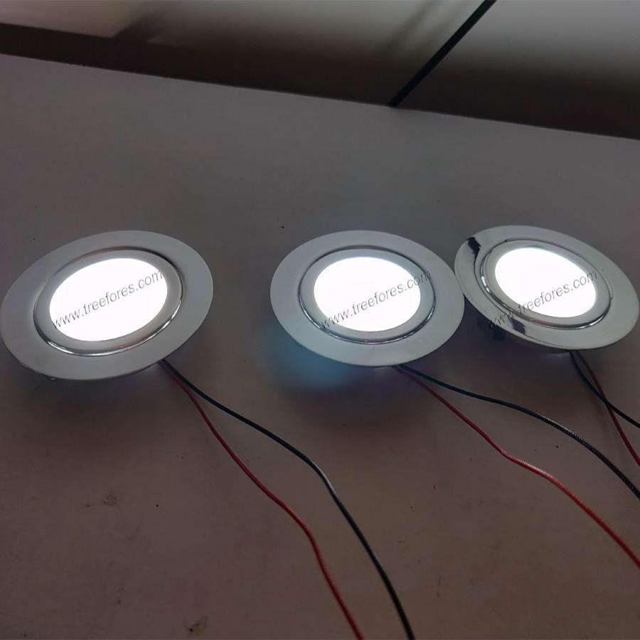 size 40 dd101 46958 Stainless Steel 3W 12V DC 14mm Mini LED Ceiling Spot Light for Bathroom  Kitchen Cabinet Lighting CE RoHS Spotlight Lamp