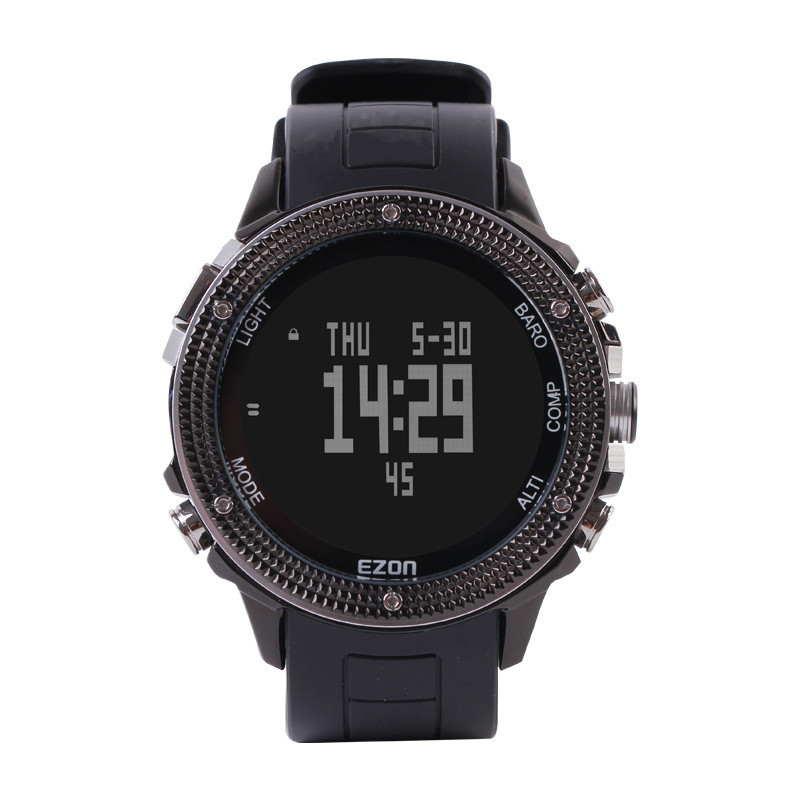 Famous Brand Watches EZON men Outdoor Hiking Altimeter Compass Barometer Big Sport Watches multifunction Chronograph watches top brand ezon h506 outdoor hiking mountain climbing sport watch men s digital watches altimeter compass barometer