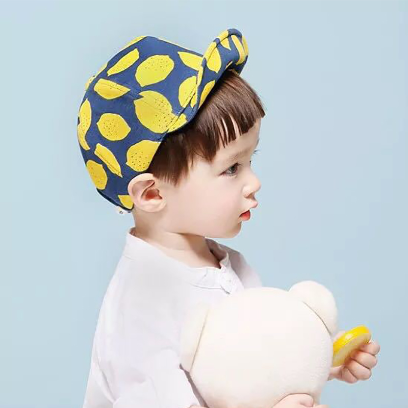 a6933602e72eb 1 To 2 Years Old Kids Baseball Cap for Baby Hat Toddler Boys Girls Sun Hat  Lemon Fruit Cotton Yellow Navy Blue for Photography-in Hats   Caps from  Mother ...