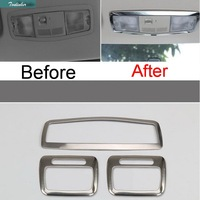 1 PCS Car DIY NEW Stainless Steel Front And Rear Readlight Light Box Cover Case For