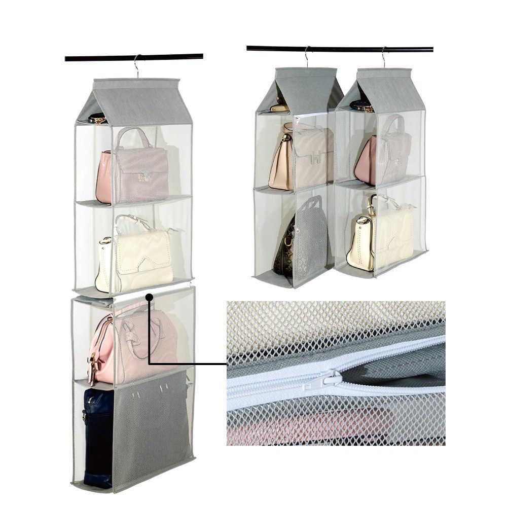 Pendurado saco de armazenamento saco de parede luluhut 4 camadas sacos roupeiro organizador do armário de armazenamento de suspensão saco de armazenamento de bolsas bolsa titular