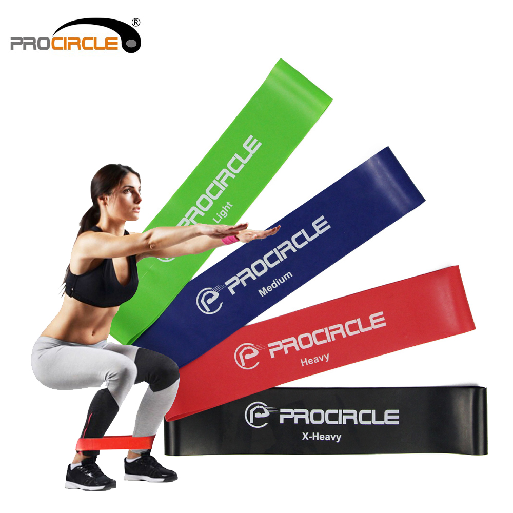 Procircle 4 PCS Resistance Loop Bands Set Exercise Fitness Band For Physical Therapy/Pilates/Strength Training Workout