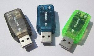 Image 5 - 800X USB כדי 3D אודיו USB חיצוני כרטיס קול מתאם 5.1 ערוץ קול מקצועי מיקרופון 3.5mm ממשק דה אודיו