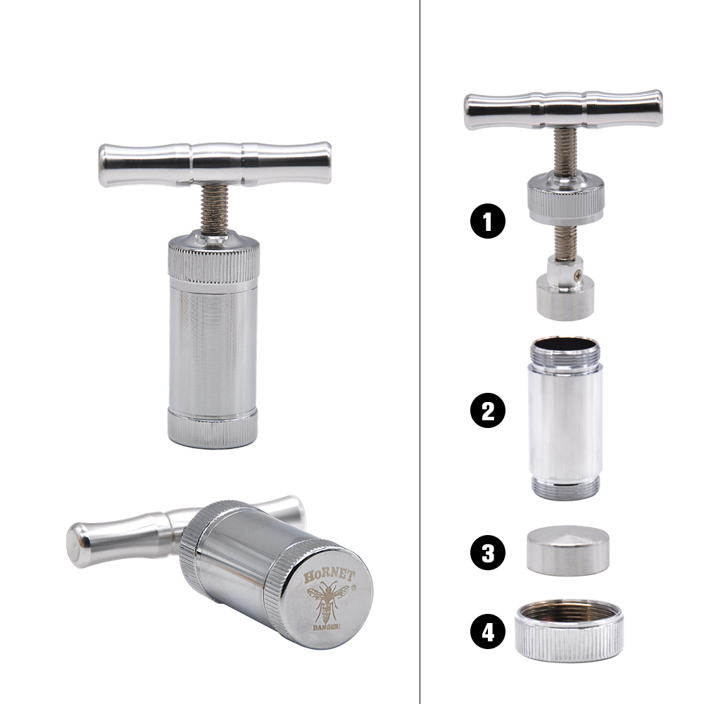 Metal Aluminum Pollen Presser Compressor Press Herb grinder Tobacco Spice Grinder Crusher accessories