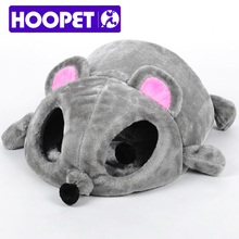 HOOPET серый Мыши Форма кровать для маленьких Товары для кошек Товары для собак пещере кровать съемный Подушка, Водонепроницаемый дном животное дом подарок для домашних животных # K